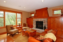Family Room & Fireplace Side Angle