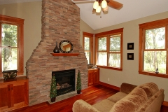Family Room & Fireplace Angle