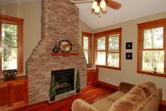 Family Room & Fireplace Angle