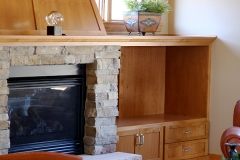 Fireplace Mantle & Entertainment Area