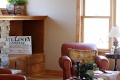 Living Room Mantle & Furniture